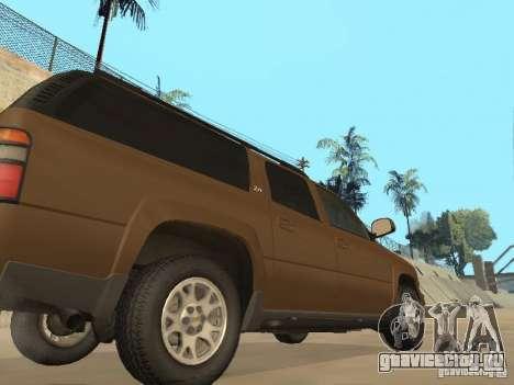 Chevrolet Suburban 2003 для GTA San Andreas вид изнутри