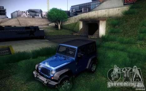 Jeep Wrangler Rubicon 2012 для GTA San Andreas вид справа