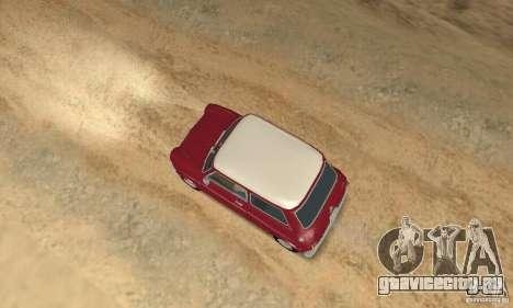 Mini Cooper S для GTA San Andreas вид сзади слева