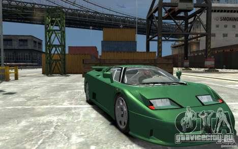 Bugatti EB110 Super Sport для GTA 4 вид сзади