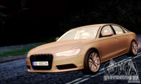 Audi A6 2012 для GTA San Andreas вид сзади