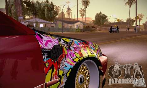 Honda Civic Tuning 2012 для GTA San Andreas вид изнутри
