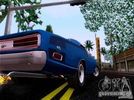 Dodge Coronet Super Bee v2 для GTA San Andreas вид сзади