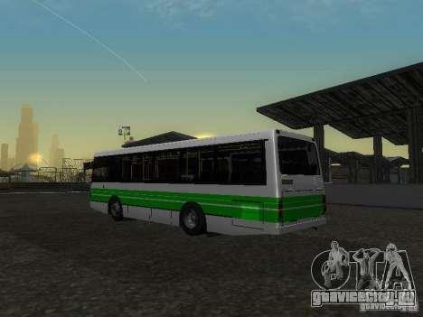 ЛАЗ 42021 КВР для GTA San Andreas вид изнутри