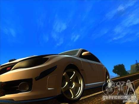 Subaru Impreza WRX 2008 Tunable для GTA San Andreas вид справа