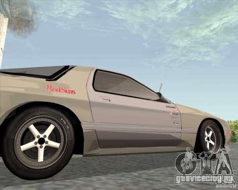 Mazda Savanna RX-7 FC3S для GTA San Andreas вид сзади