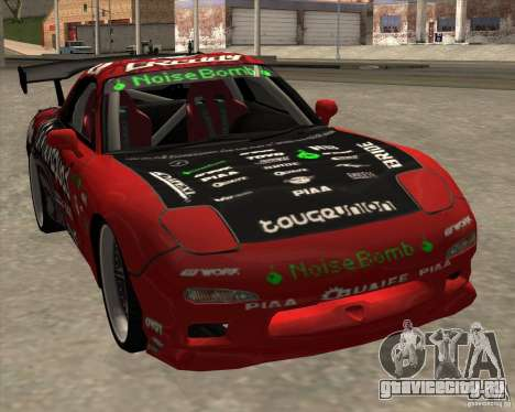 Mazda RX-7 drift king для GTA San Andreas вид сзади слева