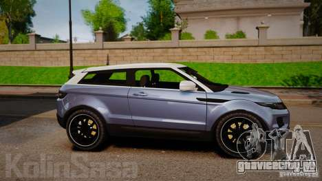 Range Rover Evoque для GTA 4 вид слева