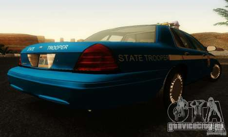 Ford Crown Victoria Wisconsin Police для GTA San Andreas вид слева