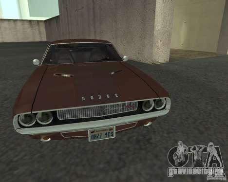 Dodge Challenger для GTA San Andreas вид изнутри