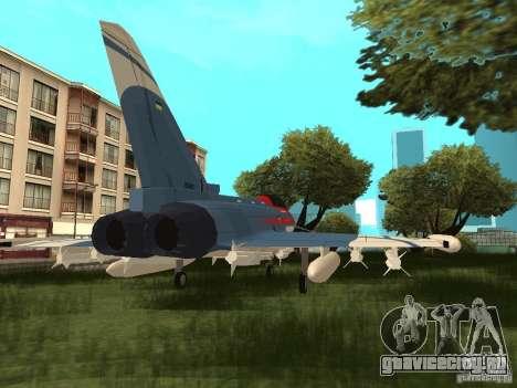 Eurofighter Typhoon для GTA San Andreas вид слева