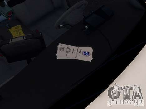 Ford Crown Victoria Homeland Security для GTA 4 вид изнутри
