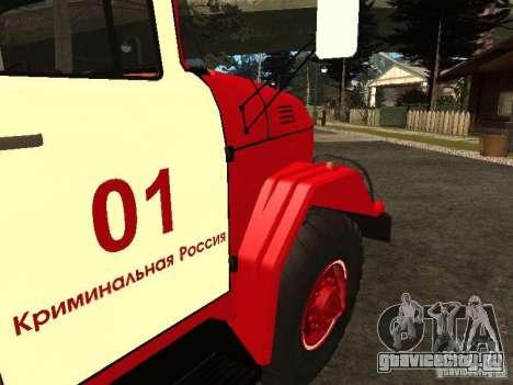ЗиЛ 131 пожарная для GTA San Andreas вид изнутри