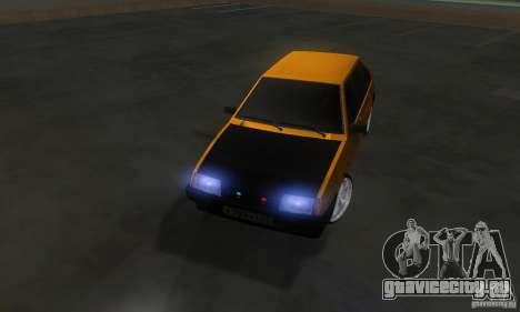 ВАЗ 2109 Light Tuning для GTA San Andreas вид изнутри