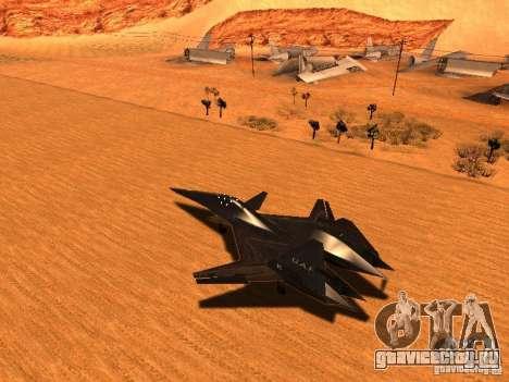 ADF01 Falken для GTA San Andreas вид сзади слева