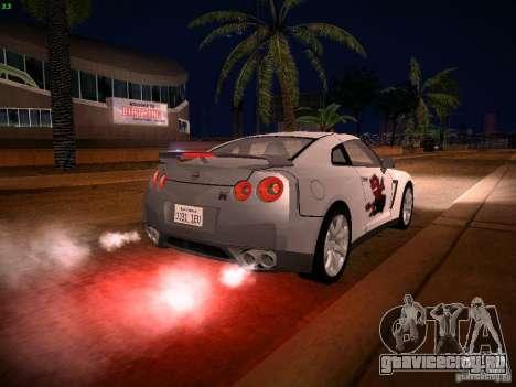 Nissan GT-R для GTA San Andreas двигатель