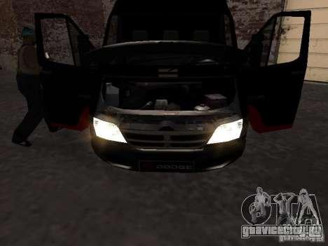Dodge Sprinter Van 2500 для GTA San Andreas вид справа