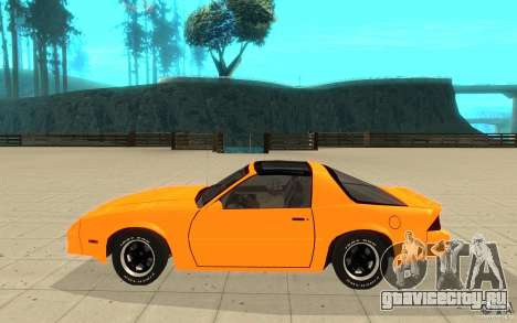 Chevrolet Camaro 1986 Targa Top для GTA San Andreas вид слева