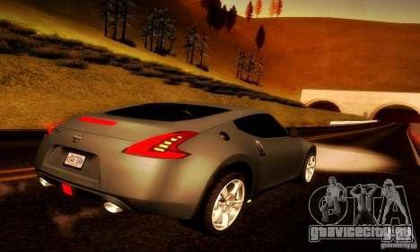 Nissan 370Z V2 для GTA San Andreas вид сзади слева