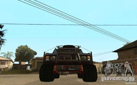 Range Rover Off Road для GTA San Andreas вид сзади слева