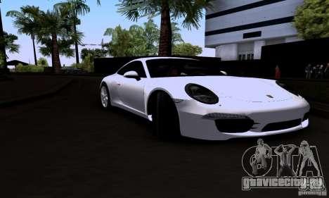 Porsche 911 Carrera S для GTA San Andreas вид сзади слева