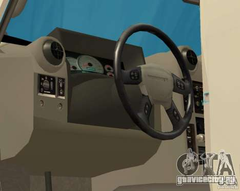 Hummer H2 MONSTER для GTA San Andreas вид изнутри
