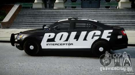 Ford Taurus Police Interceptor 2011 [ELS] для GTA 4 вид слева