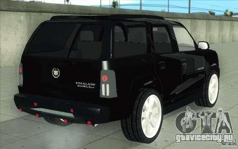 Cadillac Escalade 2004 для GTA San Andreas вид снизу
