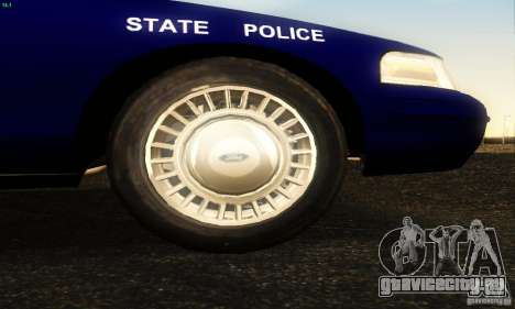 Ford Crown Victoria Masachussttss Police для GTA San Andreas вид справа