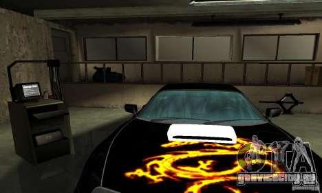 Toyota Supra Tuneable для GTA San Andreas вид снизу