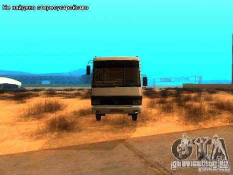 БАЗ А079.14 для GTA San Andreas вид изнутри
