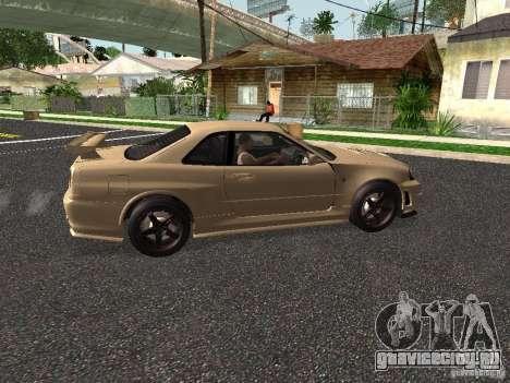 Nissan Skyline Z-Tune для GTA San Andreas вид сзади слева