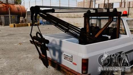 Rancher Tow Truck ELS для GTA 4 вид сзади