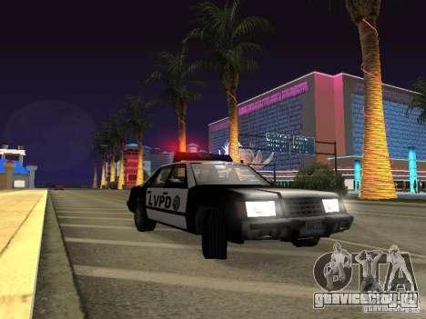 LVPD Police Car для GTA San Andreas вид изнутри