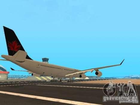 Airbus A340-300 Air Canada для GTA San Andreas вид справа