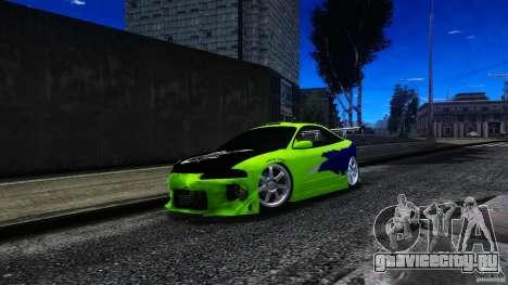 Mitsubishi Eclipse GSX FnF для GTA 4 вид изнутри