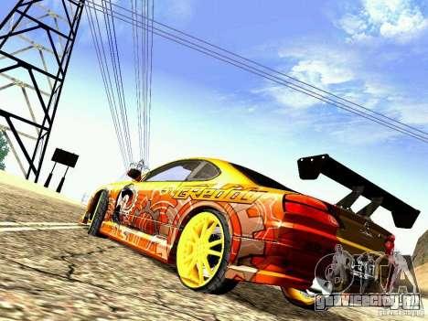 Nissan Silvia S15 Juiced2 HIN для GTA San Andreas вид сзади слева