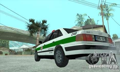 Audi 100 C4 (Cop) для GTA San Andreas вид справа