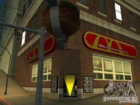 Mc Donalds для GTA San Andreas третий скриншот