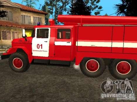 ЗиЛ 131 пожарная для GTA San Andreas вид справа
