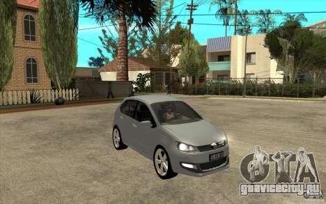 Volkswagen Polo 2011 для GTA San Andreas вид сзади