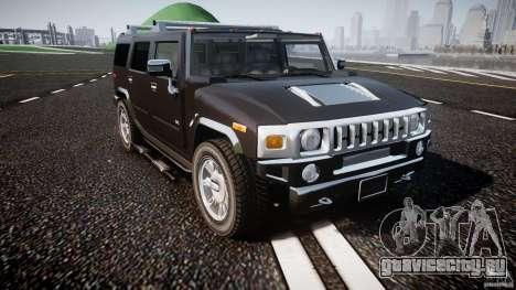 Hummer H2 для GTA 4 вид изнутри