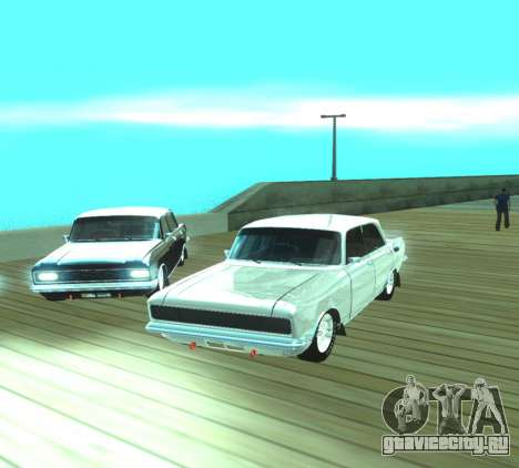 Москвич 2140 Dragster для GTA San Andreas вид сзади