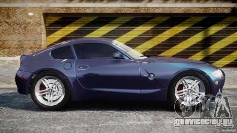 BMW Z4 V3.0 Tunable для GTA 4 вид изнутри