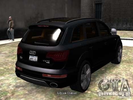 Audi Q7 V12 TDI Quattro Final для GTA 4 вид справа