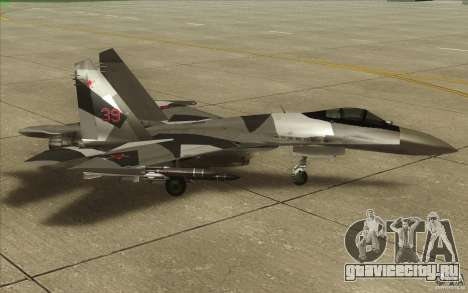 Су-35 БМ v2.0 для GTA San Andreas вид сзади слева
