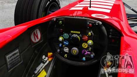 Ferrari F2005 для GTA 4 вид изнутри