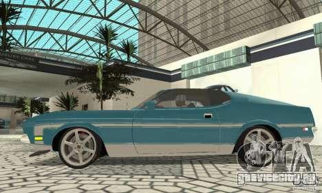 Ford Mustang Mach 1 1971 для GTA San Andreas вид сзади слева