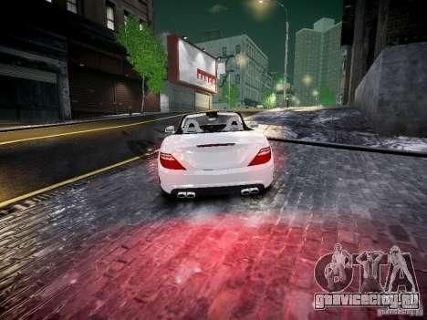 Mercedes SLK 2012 для GTA 4 вид сзади слева