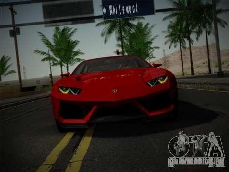 Lamborghini Estoque Concept 2008 для GTA San Andreas вид изнутри